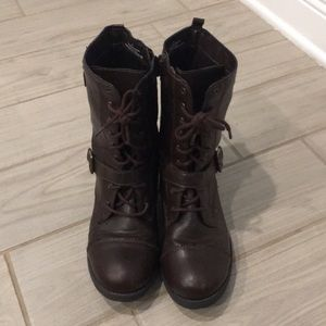 Dark brown combat boots size 11